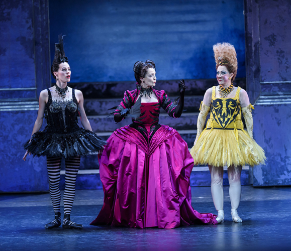 <p>Samara Downs as Skinny, Marion Tait as the Stepmother and Laura Purkiss as Dumpy. &copy; Bill Cooper</p>.