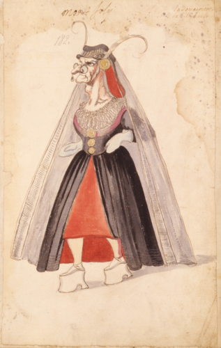 <p>A typical early ballet costume</p>.