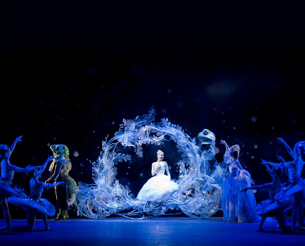 "<p><em>Cinderella: </em>Elisha Willis as Cinderella with Artists of Birmingham Royal Ballet<span class=""redactor-invisible-space""></span></p>. Credit: Bill Cooper."