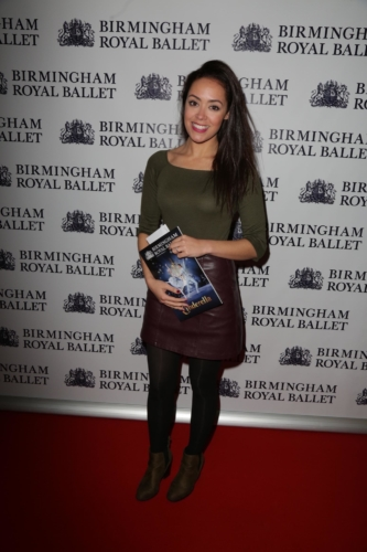 <p>Actress Leah Hackett arrives for the show!</p>.