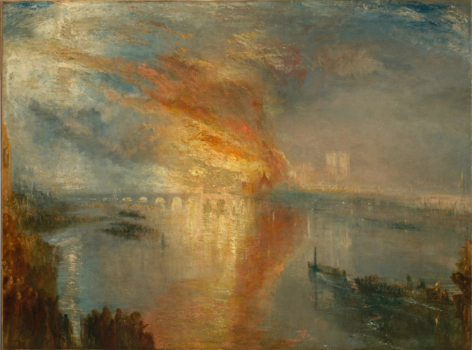 The Burning Of The House Of Lords And Commons.