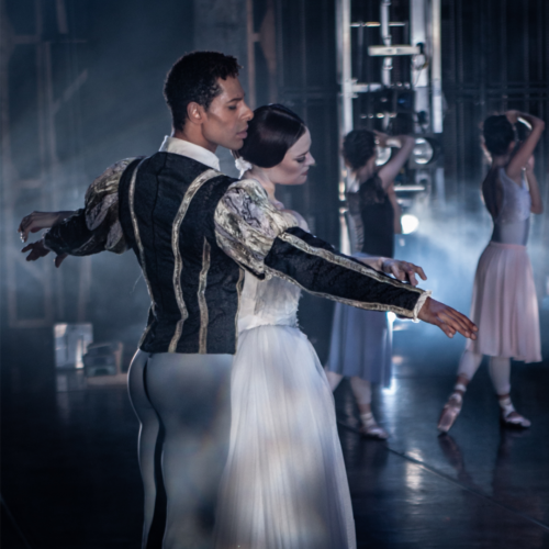 <p>Delia Mathews as Giselle and Tyrone Singleton as Count Albrecht</p>. Credit: Lachlan Monaghan.