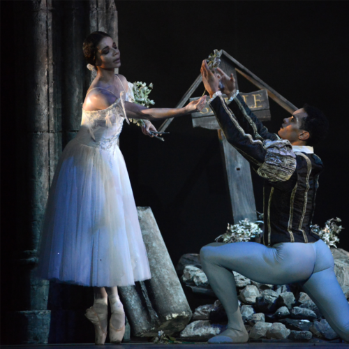 <p>Céline Gittens as Giselle and Brandon Lawrence as Count Albrecht</p>. Credit: Roy Smiljanic.