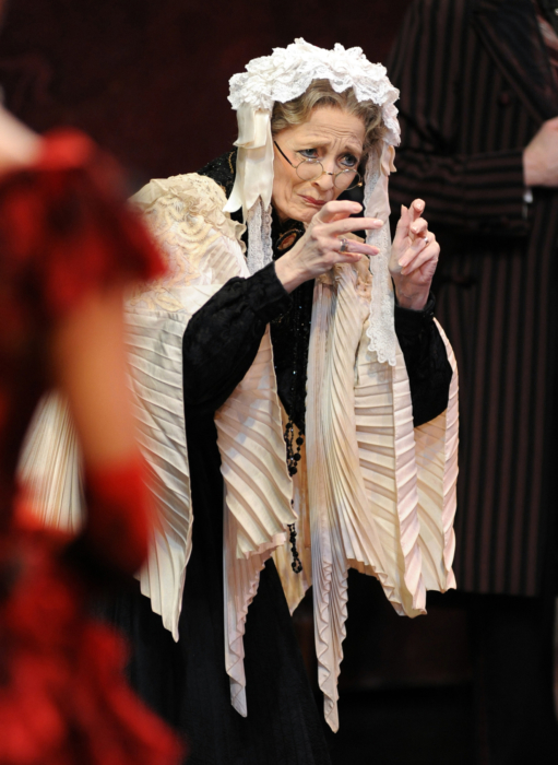 <p><em>The Nutcracker </em>from the wings: Marion Tait as the Grandmother</p>. Credit: Roy Smiljanic.