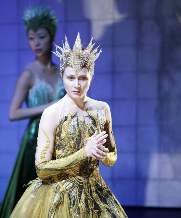 <p><em>Cinderella</em> Act I stage rehearsal: Jenna Roberts as Summer</p>. Credit: Andrew Ross.
